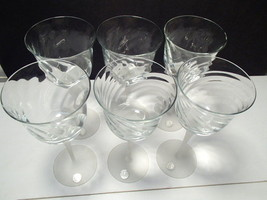 6 VALERIE~CRYSTAL CLEAR INDUSTRIES WATER~WINE~GOBLET~GLASS~STEMWARE~FROS... - $24.99
