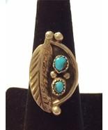 Vintage Margaret Sam Navajo Sterling & Turquoise Ring Size 6.5 - $82.24