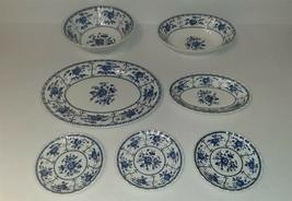 Johnson Brothers Ironstone Indies Blue Serving Platters Bowls +++ 7 pcs - $49.00