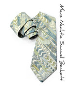 Wedding Mens Necktie Shades of Blue and green arrows tie - $70.00