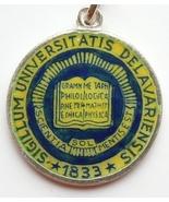 UNIVERSITY of DELAWARE LOGO Silver Enamel Travel Shield Bracelet Charm -... - $45.64