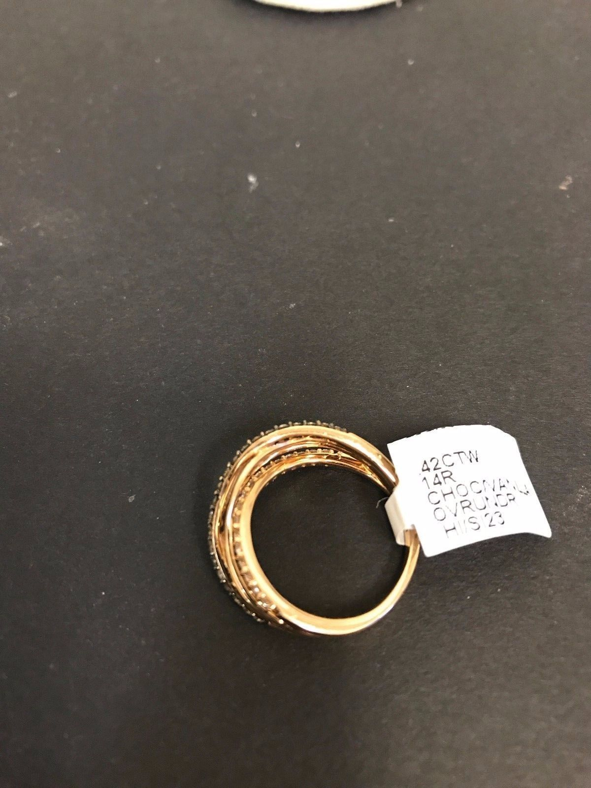 New Le Vian  ZUEO 61 14kt  Rose Gold  Diamond Ring From Chocolatier Collection