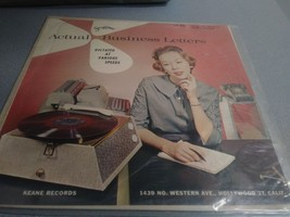 """STEN-O-DISC: Actual Business Letters LP (a """"dictation"""" practice record) - $7.99"""