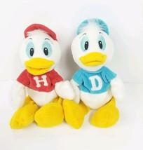 Disney Disneyland Vintage Huey Dewey Bean Bag Plush Toy Set 8 inch Ducks... - $20.20
