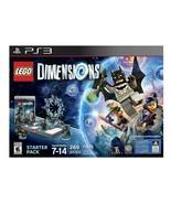NEW SEALED Playstation 3 PS3 Lego Dimensions Batman Gandalf Starter Pack... - $37.07