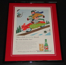 1959 Seven 7 Up Holiday 11x14 Framed ORIGINAL Vintage Advertisement - $46.39