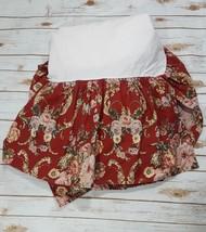Ralph Lauren Marseilles Danielle Red Floral Queen Dust Ruffle Bed Skirt B7 - $22.42