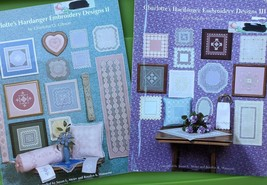 Charlotte's Hardanger Embroidery Pattern Book Lot - Doily Bell pull Pillow  - $31.68