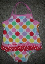 H&M Polka Dot One Piece Bathing Suit Girls Size 6-12 months - $2.88