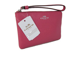 Coach Signature Wristlet Bag Purse Genuine Leat... - $49.49