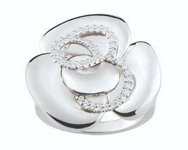 Ring Cacharel simple with flower and stones (CSR389), Sterling Silver 0,925 - $79.20