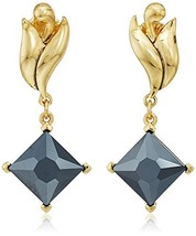 Badgley Mischka Gold-Tone-Tone Swirl Square Drop Earrings - $74.27