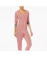 Jenni by Jennifer Moore Striped Union Suit Pajama Jumpsuit, Size XS - $20.19