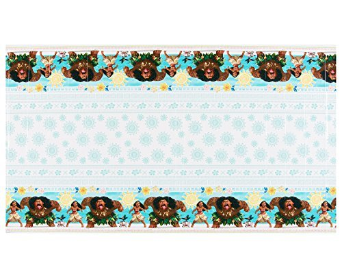 "Primary image for amscan Disney Moana Design Plastic Table Cover-1pc, Blue/Brown, 54"" x 96"""