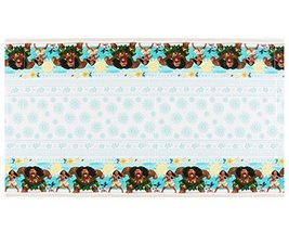"amscan Disney Moana Design Plastic Table Cover-1pc, Blue/Brown, 54"" x 96"" - $6.19"