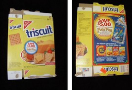 Triscuit Whole Wheat Wafers Flat Empty Box Disney Peter Pan - $14.99