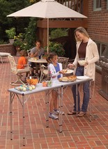 Two Table Set Camping Folding Outdoor Picninc Eating Patio Camp Garden C... - $87.79