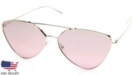 New Prada Spr 51U ZVN-095 Pale Gold /VIOLET Mirror Silver Lens Sunglasses Italy - $157.40