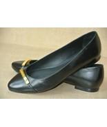 NEW Ralph Lauren Farrel Womens 7 M Black Leather Signature Loafers Balle... - $36.62
