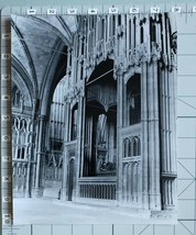 ORIGINAL PRESS PHOTO WINCHESTER CATHEDRAL GRAND TOMB BY DONALD MCLEISH - $12.47