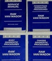 2002 Dodge RAM Van Wagon Service Réparation Atelier Manuel Set Usine OEM - $74.21