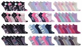 Jennifer Anderton - 6 Pack Ladies Cute Cotton Low Cut Ankle Trainer Liner Socks - $10.63