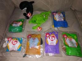 Lot Of 8 TY Beanie Babies & Mcdonalds Teenies Water Sea Animals New Plus... - $25.73