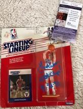 JOHN PAXSON Signed Chicago Bulls Starting Lineup Action Figure PHOTO JSA... - $197.99