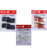 4 PIECES 4 SIDE COMBS HAIR ACCESSORIES CLEAR/BLACK/BROWN - $2.50