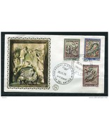 Italy 1975 First  Day Special Cancel Cover Colorano \Silk\ Cachet  Chris... - £1.43 GBP