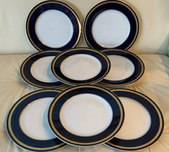 Rosenthal Germany Eminence Cobalt Blue Dinner Plates Set of 8 - $279.00