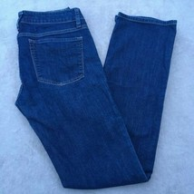 Womens Gap Straight Leg Low Rise Stretch Dark Wash Denim Jeans 28R / 6R - $14.70