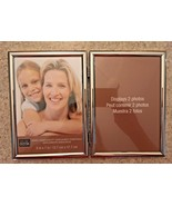 "Studio Decor Polished Silver 5"" X 7""  Double Hinged Picture Frame - $8.60"