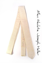 Khaki chambray necktie - Wedding Mens Tie Skinny Necktie  - $60.00