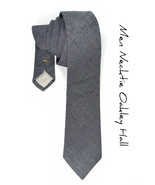 Mens Necktie Navy Blue Denim Japan Cotton tie - $70.00