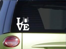 """Spider love sticker *H172* 6"""" vinyl bowl decal terrarium - $3.99"""