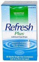 Refresh Plus Lubricant EYE Drops Moisture Lasik Dry Eyes 4 Boxes-MS55098 - $49.80