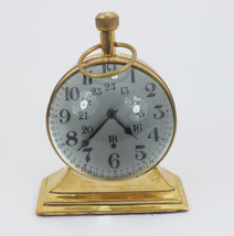 "6"" Antique Maritime brass desk clock Nautical T... - $40.06"