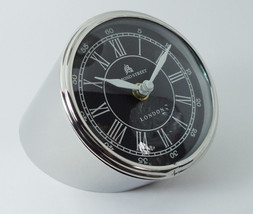 "4.25"" Chrome Contemporary Minimal German Design desk clock From Stainles... - $39.12"
