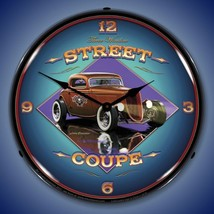 "Street Coupe Hot Rod Grossman 14"" Back Lighted Wall Clock Retro Style Ga... - $129.95"
