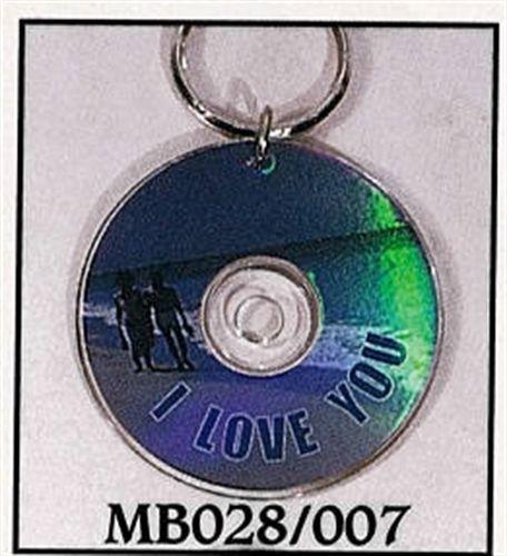 Mini CD Key Chain - I Love You - MB028/007