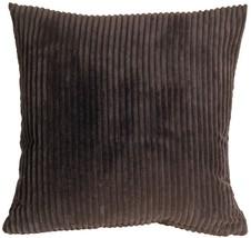Pillow Decor - Wide Wale Corduroy 18x18 Dark Brown Throw Pillow - $39.95