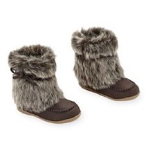 Koala Kids Brown Boots with Fur Toddler Girls Size 4 or 6  NWT - $294,30 MXN