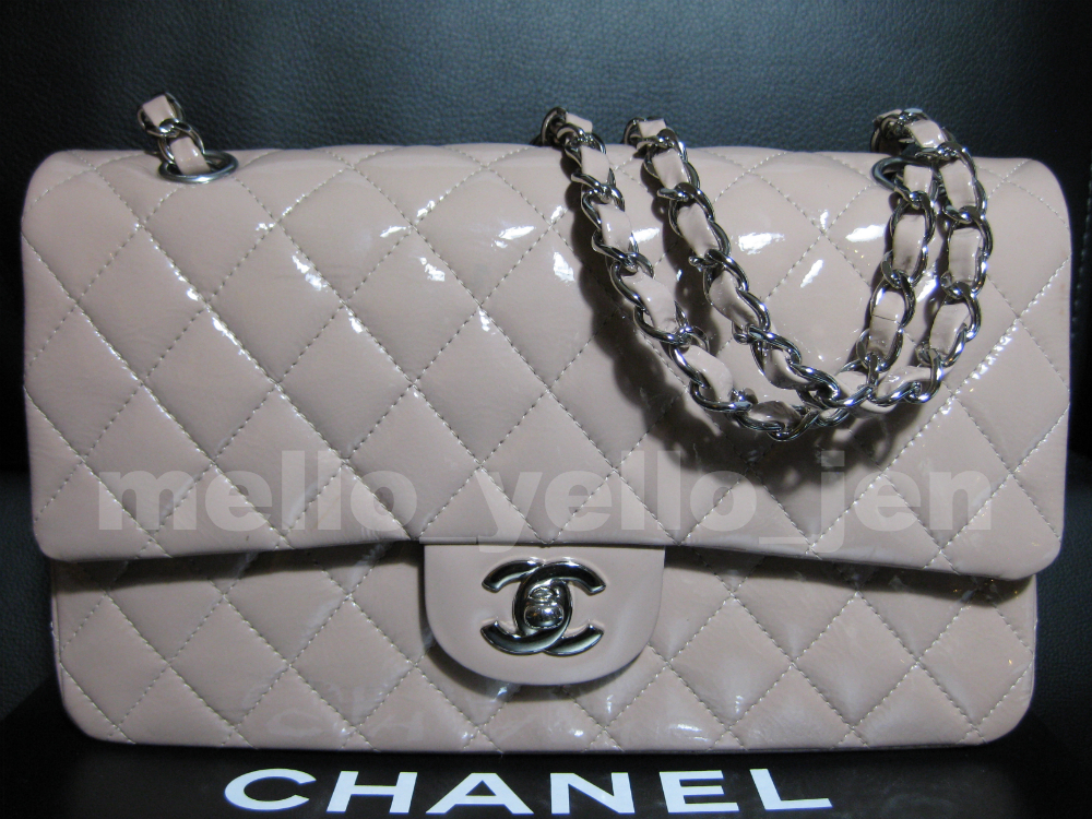 70330ba4f0c4 Chanel 07 Nude Blush Beige Patent Silver HW and 50 similar items
