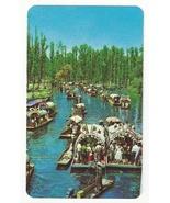 Mexico Xochimilco Floating Gardens Trajineras Boats Vintage Postcard - $6.36