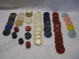 VINTAGE POKER CHIPS-CHECKERS-BABY MOBILE ROUNDS-CASINO/GAME COLLECTIBLES!!! - $9.50