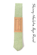Wedding Mens Tie Skinny Necktie Laid-Back necktie- green wool - $60.00