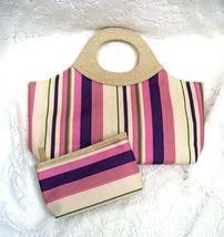 Estee Lauder Striped Canvas Tote Handbag Purse ... - $18.00