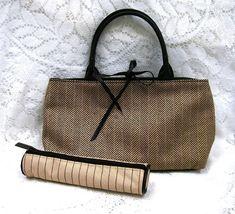 Estee Lauder Herringbone Tote Handbag Purse w C... - $18.00