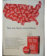 "ORIGINAL 1965 Pall Mall Cigarettes Ad U.S. Map ""I'm Particular"" - $11.16"